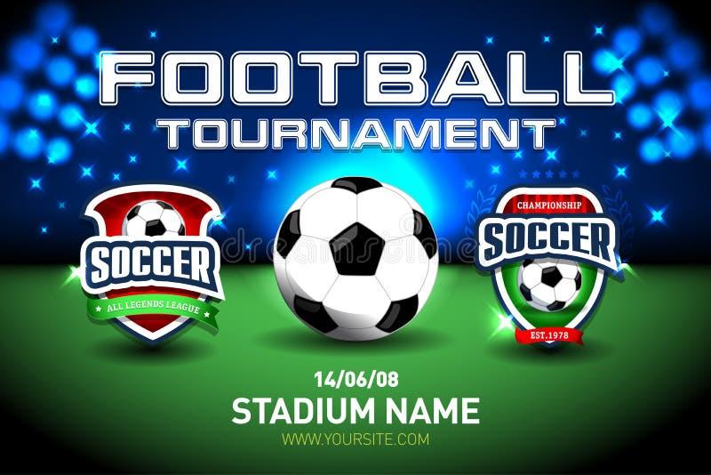 flagga 2018 för kopp för världsmästerskapfotboll och stadionbakgrund Fotbollfunktionskortmatchen vs strategi sänder den grafiska  stock illustrationer