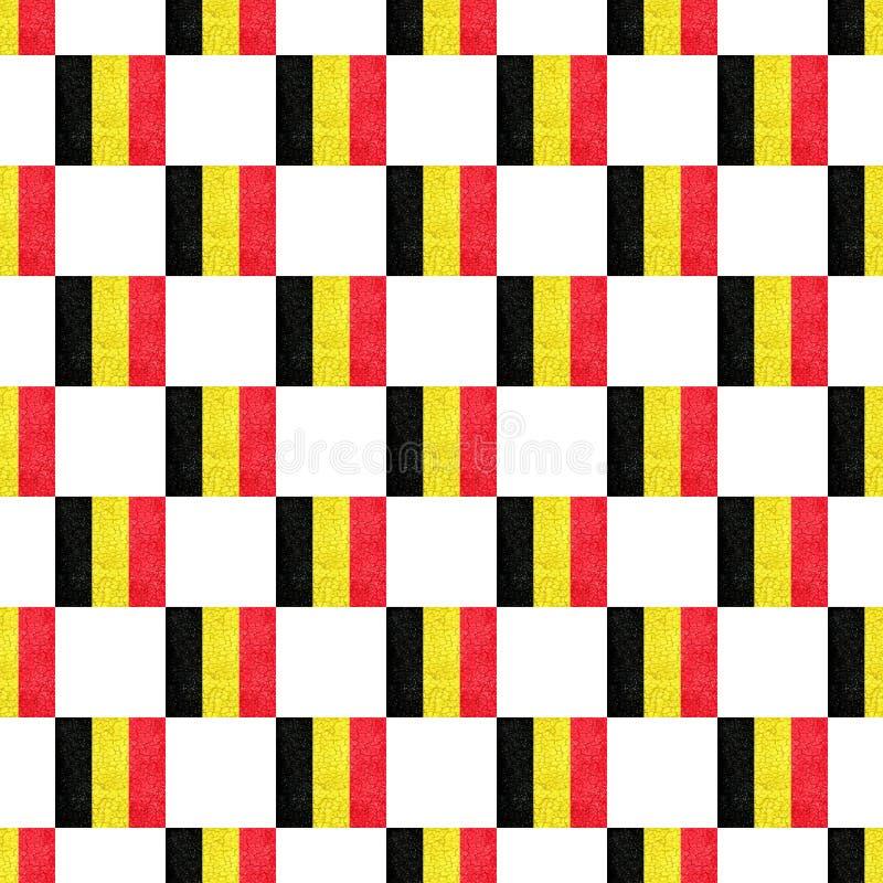Flagga för modell för Belgien Grunge sömlös vektor illustrationer