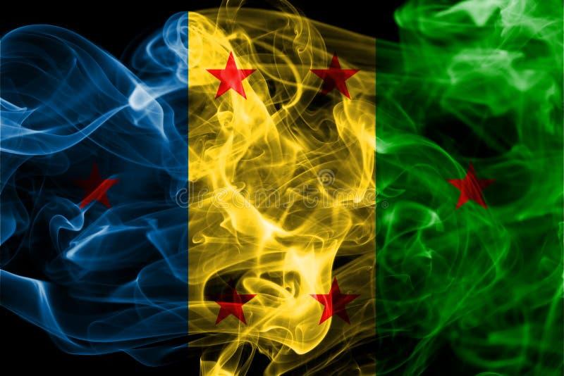 Flagga för Ogoni kungarikerök, beroende territoriumflagga fotografering för bildbyråer