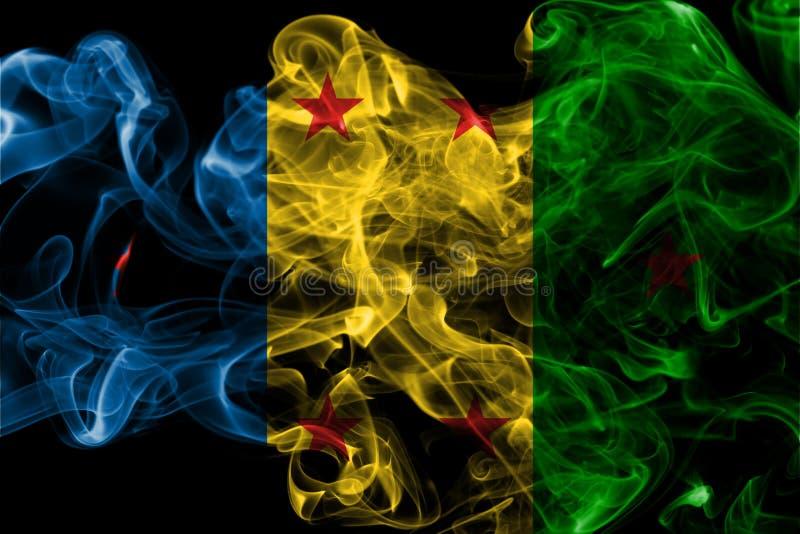 Flagga för Ogoni kungarikerök, beroende territoriumflagga arkivfoton