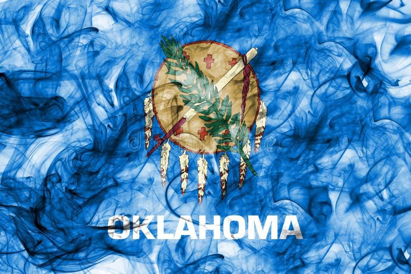 Flagga för Oklahoma tillståndsrök, Amerikas förenta stater arkivfoto