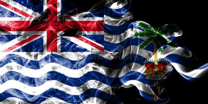 Flagga för rök för brittiskt Indiska oceanenterritorium, beroende territorium flagga för brittiska utländska territorier, Britann vektor illustrationer
