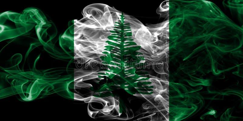 Flagga för rök för Norfolk ö, Australien beroende territoriumflagga royaltyfri fotografi