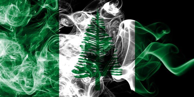 Flagga för rök för Norfolk ö, Australien beroende territoriumflagga royaltyfri illustrationer