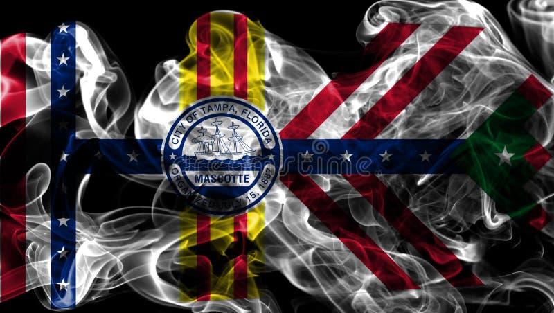 Flagga för Tampa stadsrök, Florida tillstånd, Amerikas förenta stater royaltyfri fotografi