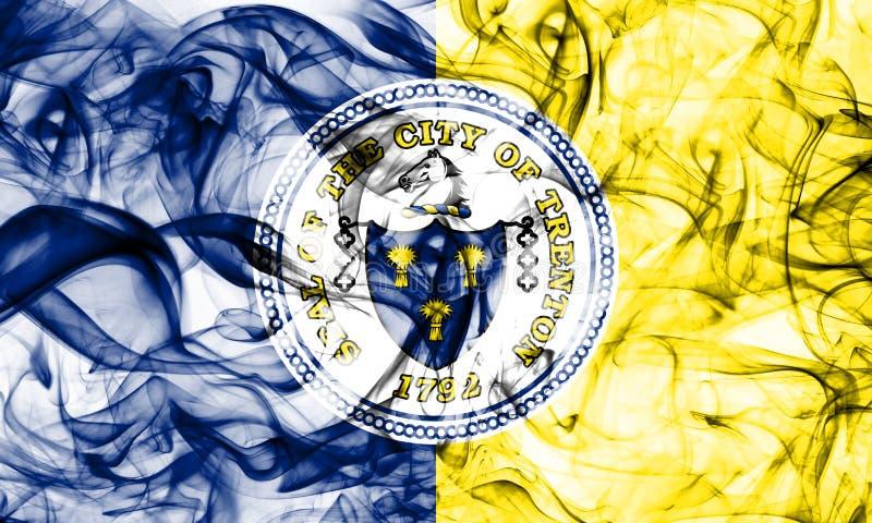 Flagga för Trenton stadsrök som är ny - ärmlös tröjatillstånd, Amerikas förenta stater royaltyfri illustrationer