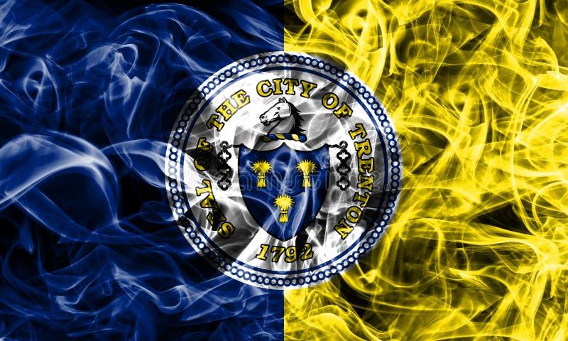 Flagga för Trenton stadsrök som är ny - ärmlös tröjatillstånd, Förenta staterna av Amer royaltyfri illustrationer