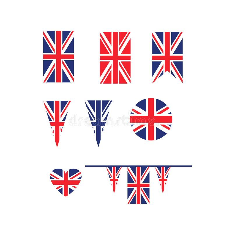 Flagga för UK Union Jack stock illustrationer