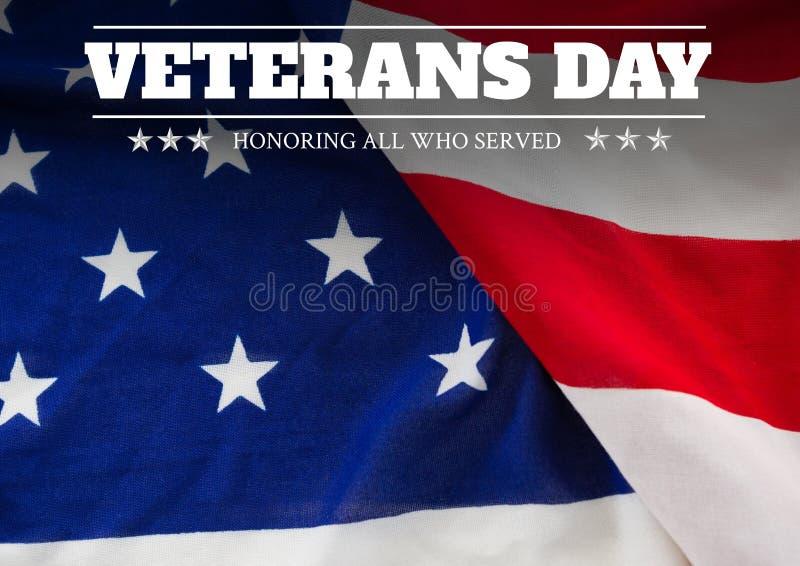 Flagga för veterandag stock illustrationer