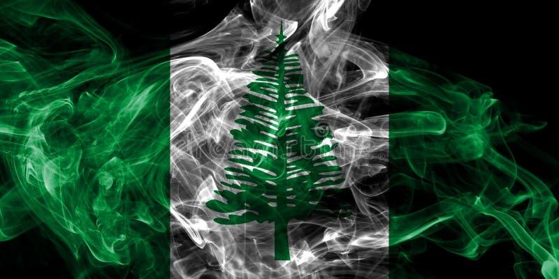 Flagga f?r r?k f?r Norfolk ?, Australien beroende territoriumflagga royaltyfri illustrationer