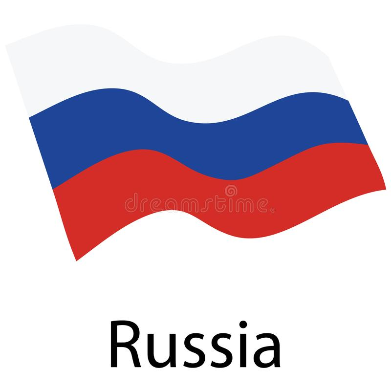 Flagga f?r rysk federation stock illustrationer