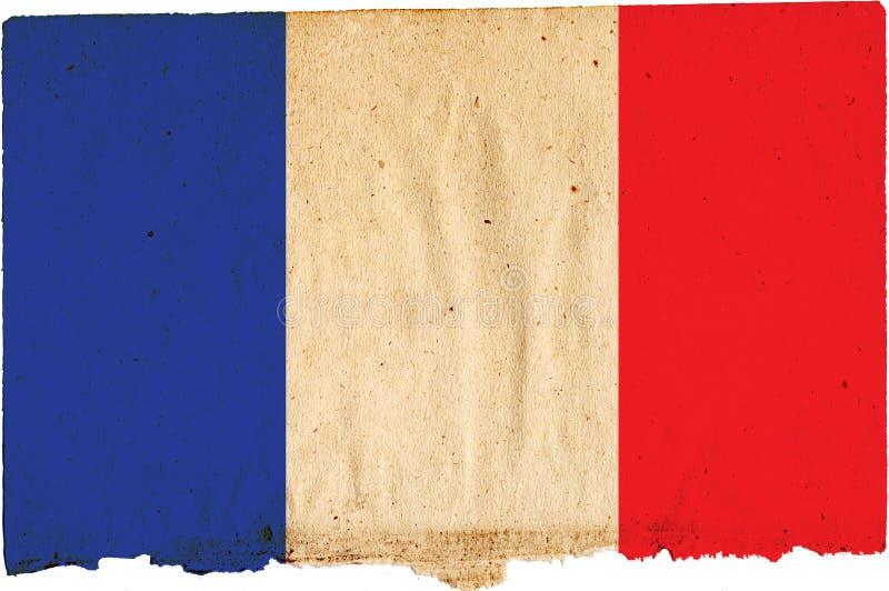 flagga france vektor illustrationer