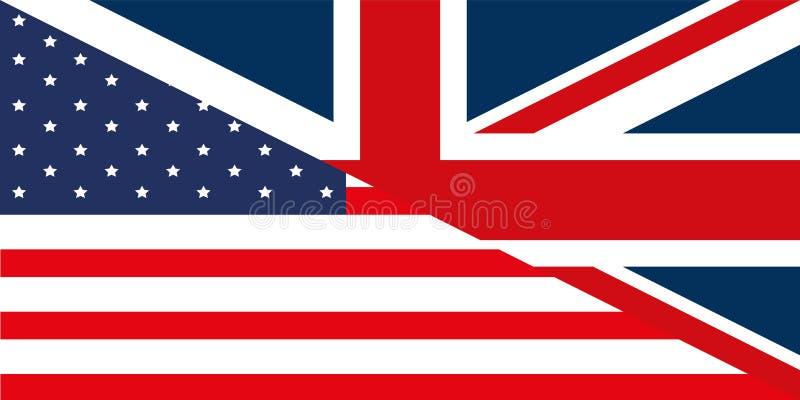 flagga gb USA vektor illustrationer