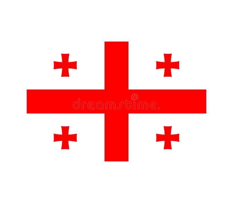flagga georgia royaltyfri illustrationer