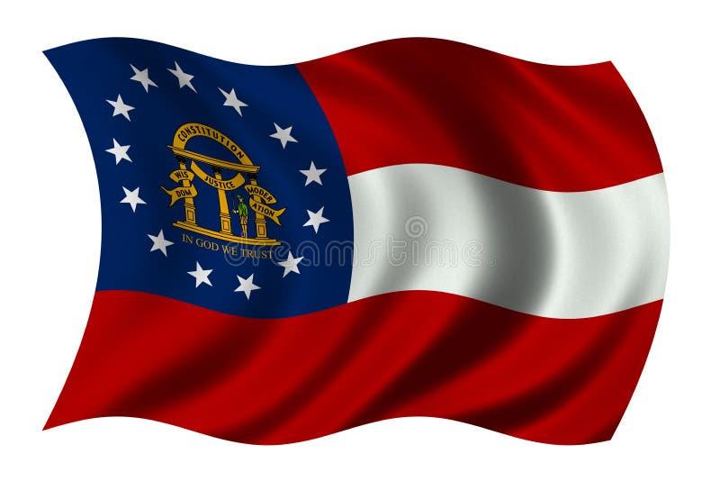 flagga georgia vektor illustrationer