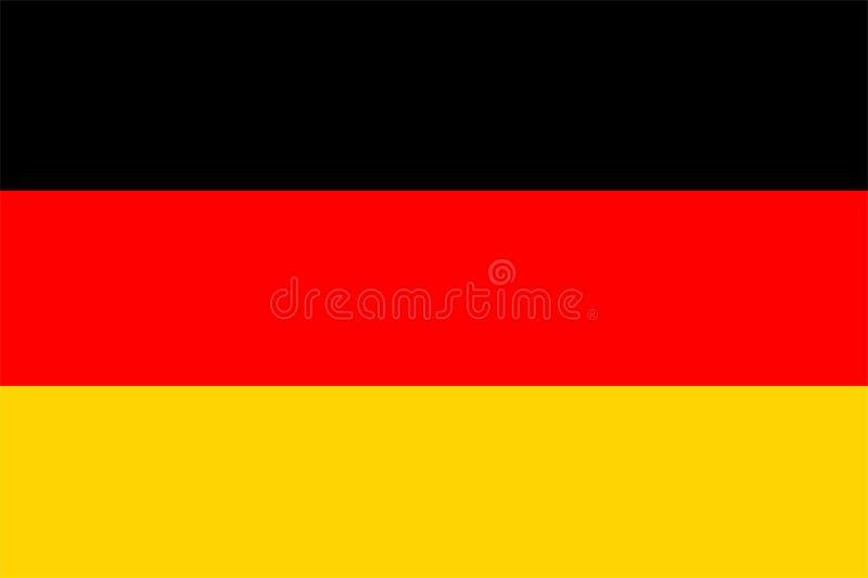 flagga germany royaltyfri illustrationer
