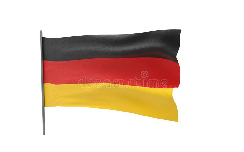 flagga germany royaltyfri illustrationer