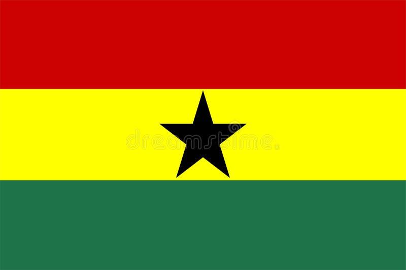 flagga ghana royaltyfri illustrationer