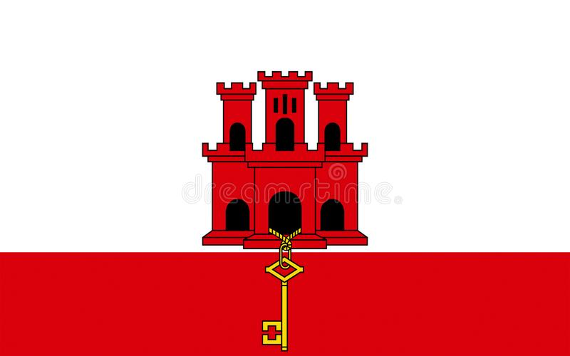 flagga gibraltar stock illustrationer