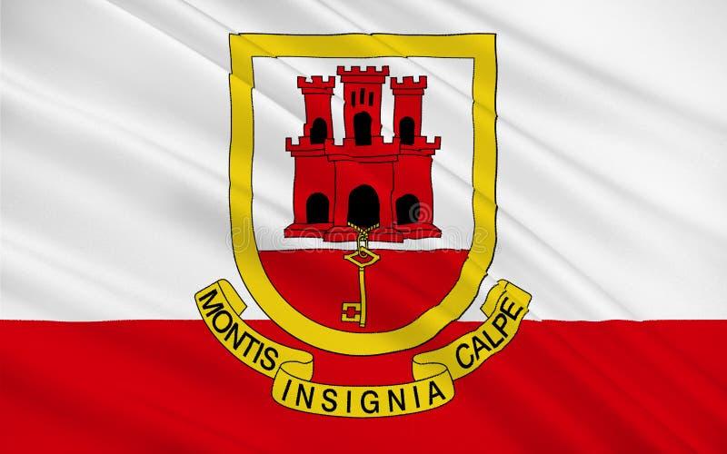 flagga gibraltar vektor illustrationer