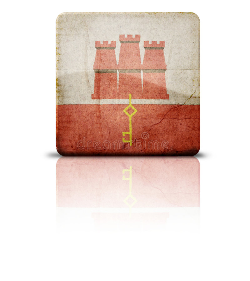 flagga gibraltar royaltyfri foto