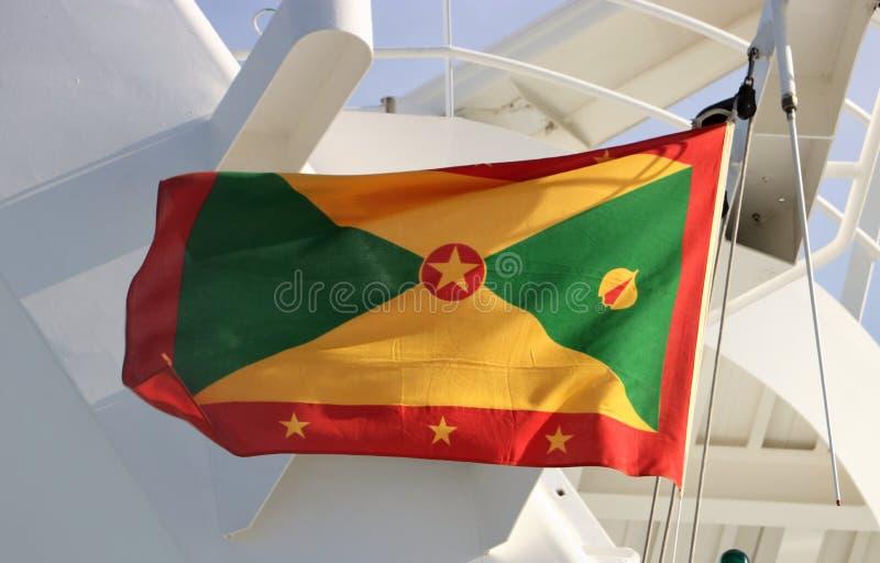 flagga grenada arkivbild