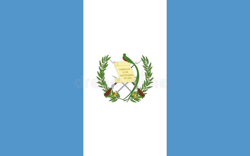 flagga guatemala vektor illustrationer