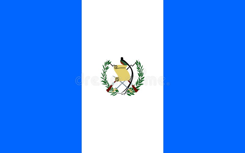 flagga guatemala vektor illustrationer