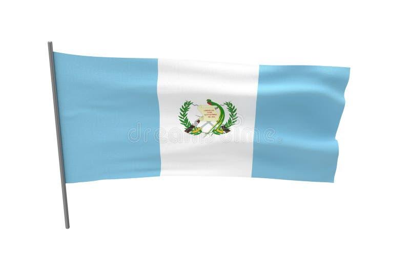 flagga guatemala royaltyfri illustrationer