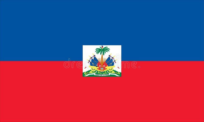flagga haiti royaltyfri illustrationer