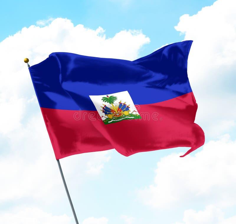 flagga haiti royaltyfria bilder