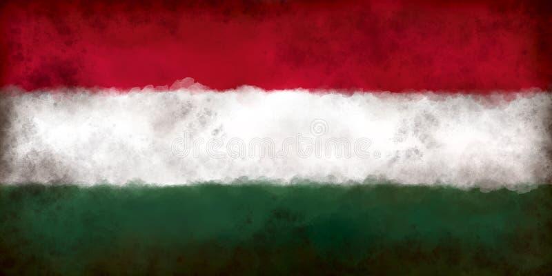 flagga hungary stock illustrationer