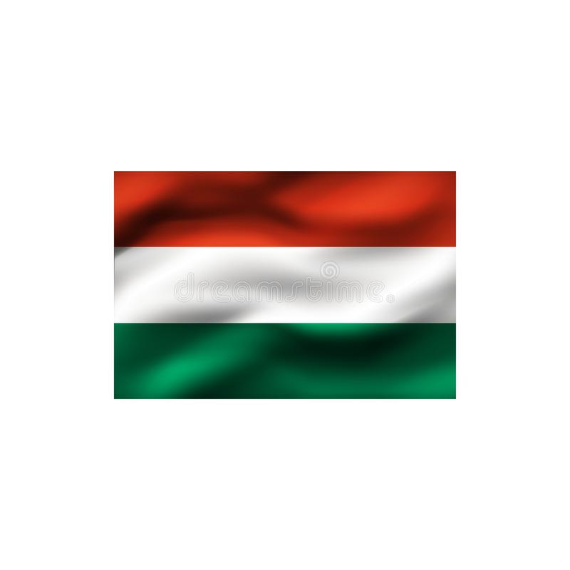 flagga hungary stock illustrationer