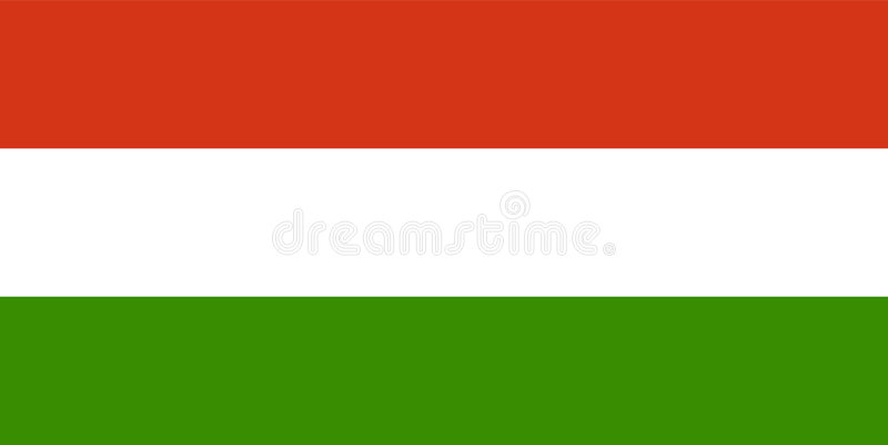 Flagga Hungary Royaltyfria Bilder
