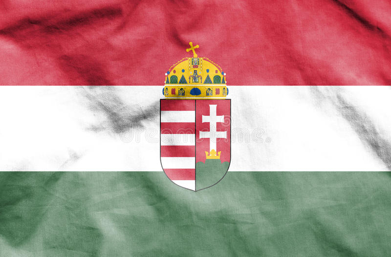 flagga hungary royaltyfri illustrationer
