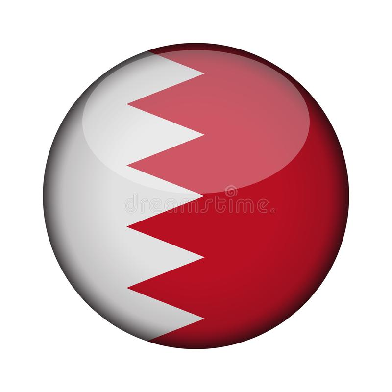 Flagga i glansig rund knapp av symbolen stock illustrationer