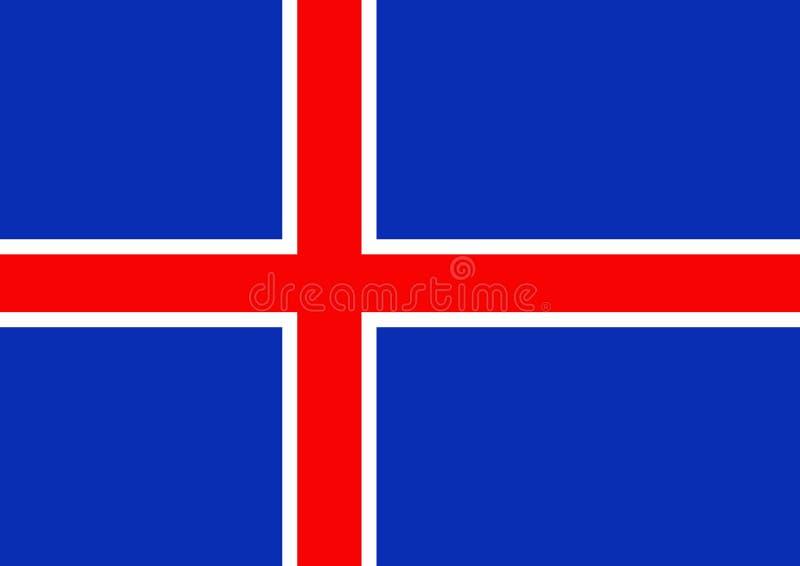 flagga iceland vektor illustrationer
