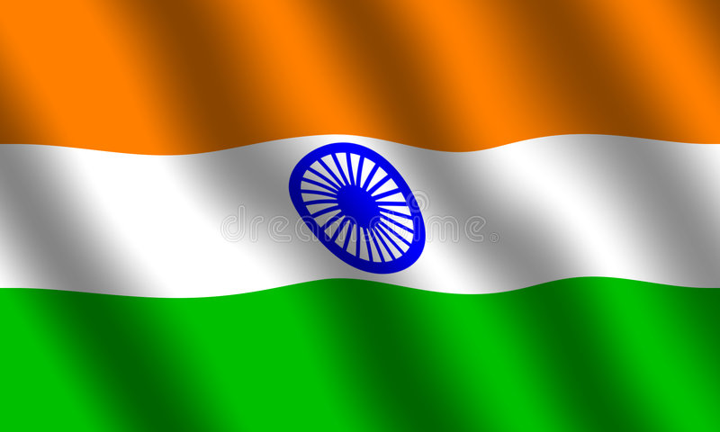 flagga india royaltyfri bild