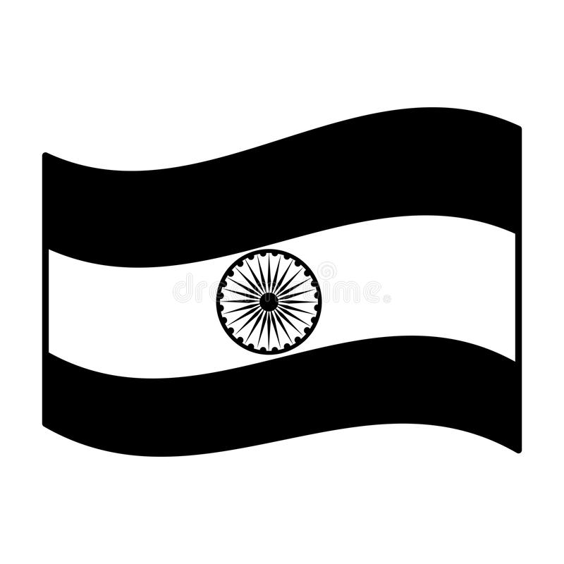 flagga india stock illustrationer