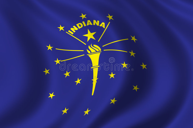 flagga indiana stock illustrationer