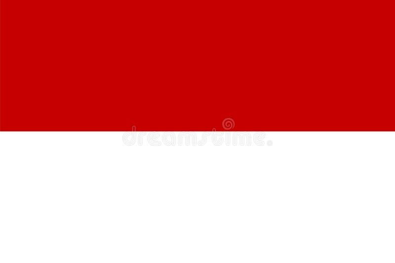 flagga indonesia stock illustrationer