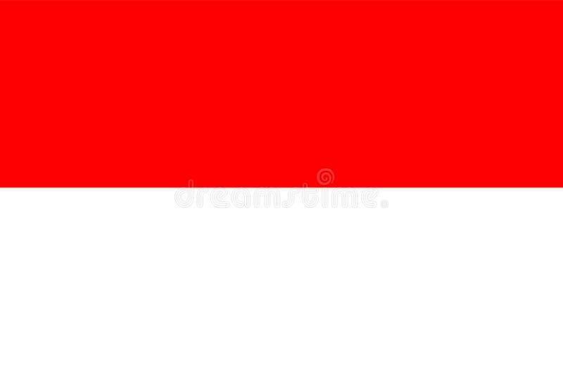 flagga indonesia vektor illustrationer