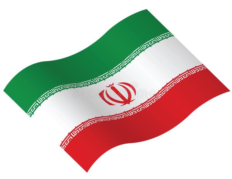 flagga iran vektor illustrationer