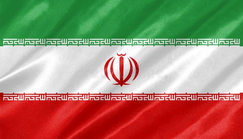 flagga iran stock illustrationer