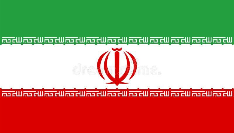 flagga iran royaltyfri illustrationer