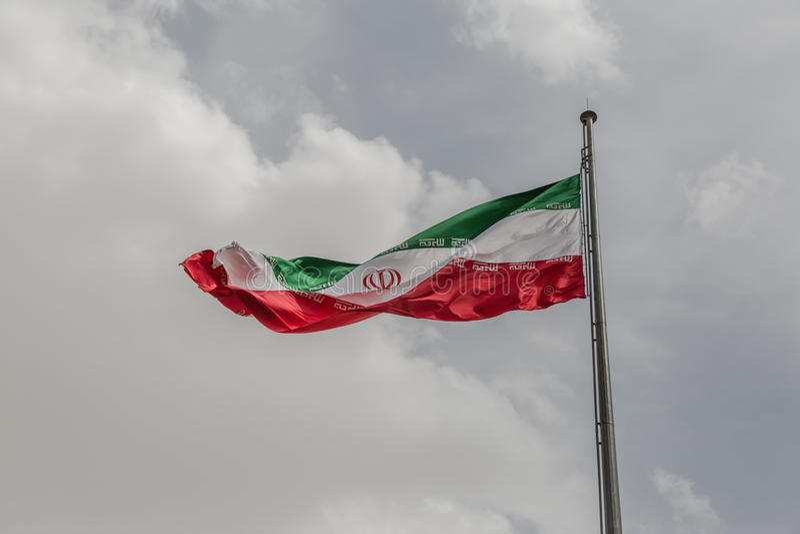 flagga iran arkivfoto