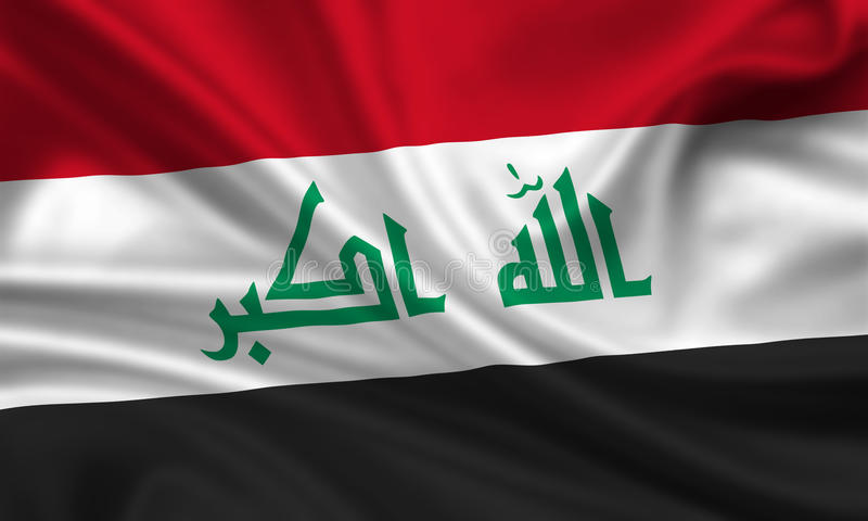 flagga iraq royaltyfri illustrationer