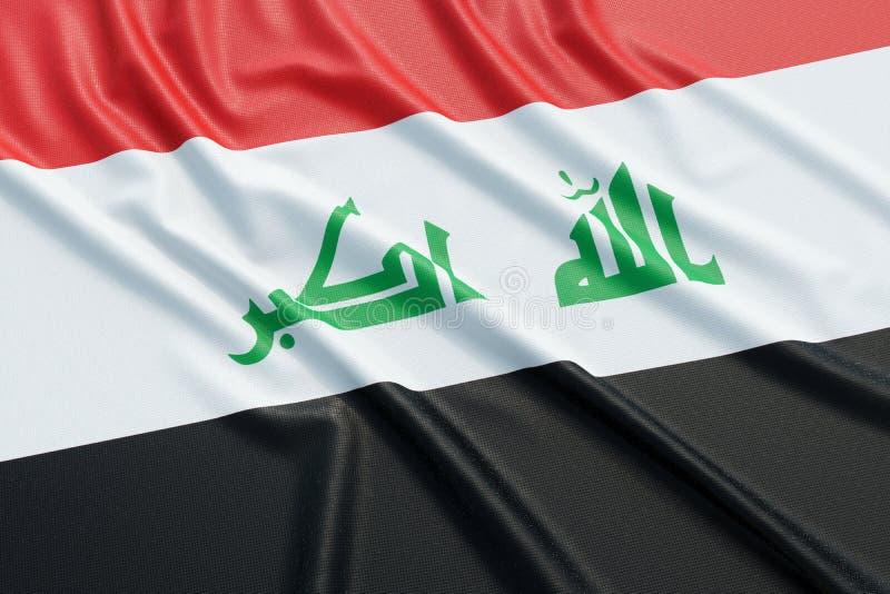flagga iraq vektor illustrationer