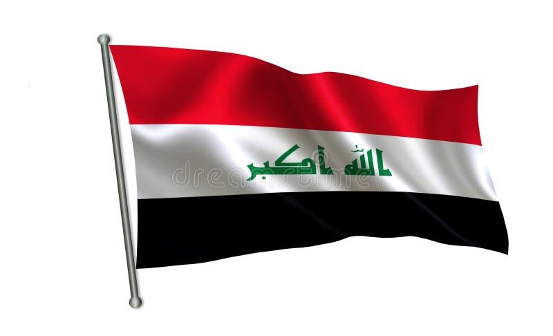 flagga iraq En serie av `-flaggor av världen ` Landet - Irak flagga royaltyfri illustrationer