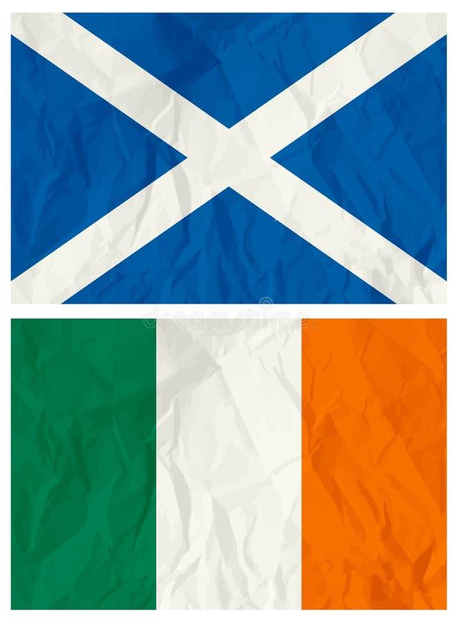 flagga ireland scotland vektor illustrationer